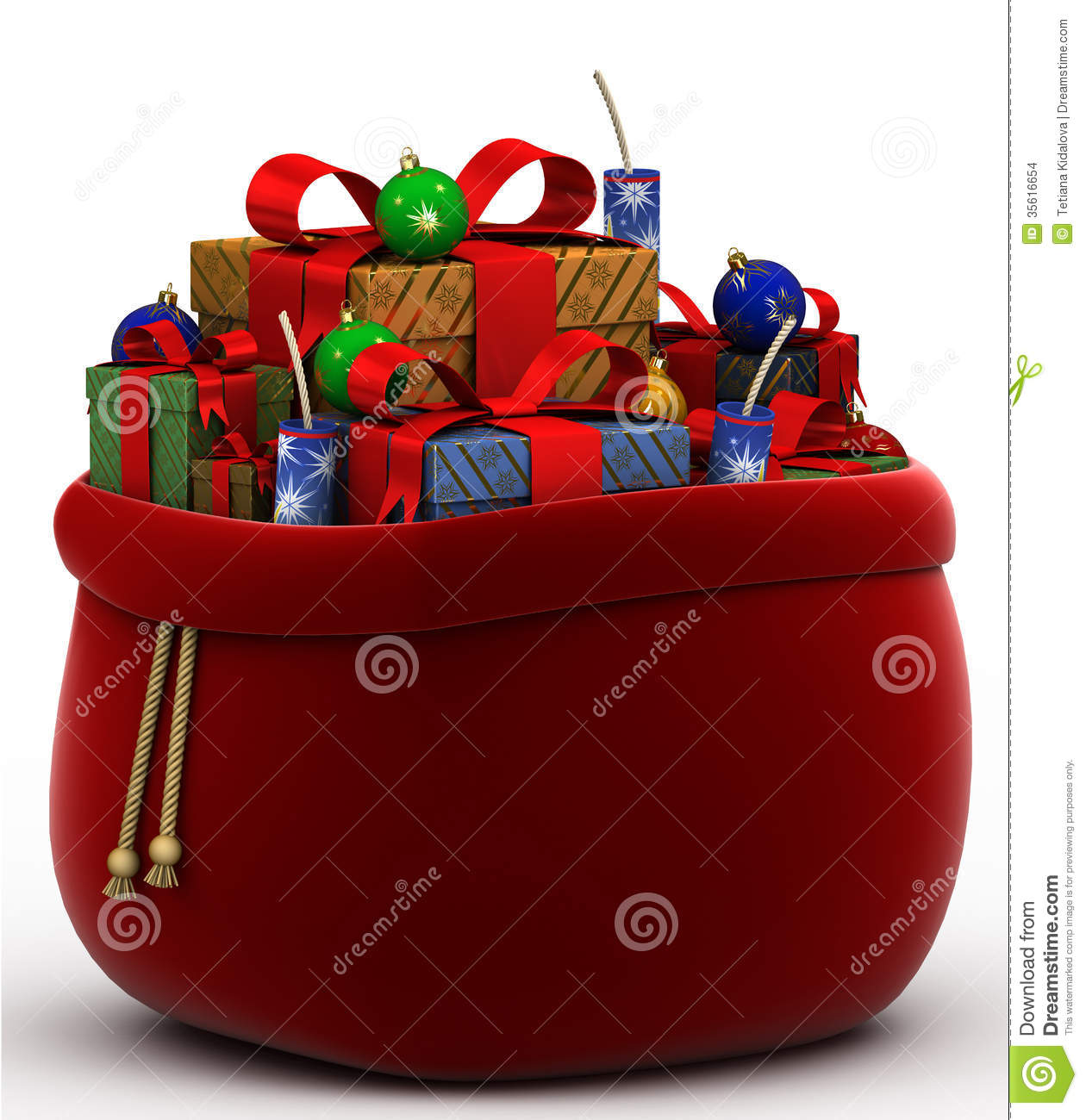 Bag with gifts on a white background stock images image 35616654