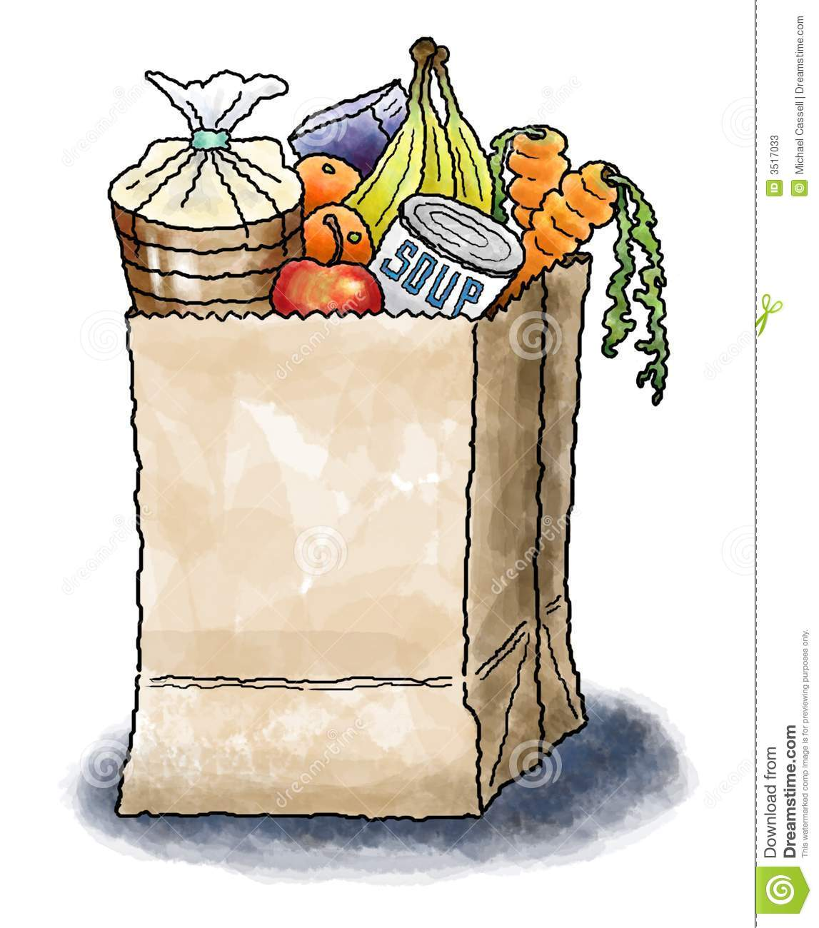 Displaying (20) Gallery Images For Grocery Bag Clip Art...