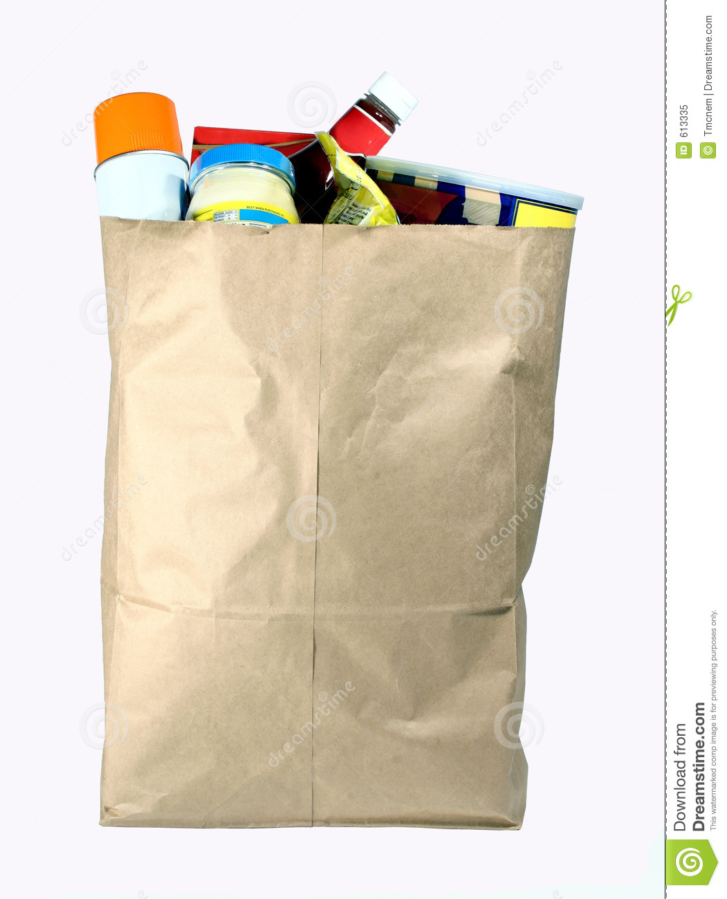 Bag Of Groceries Royalty Free Stock Photo Image 613335