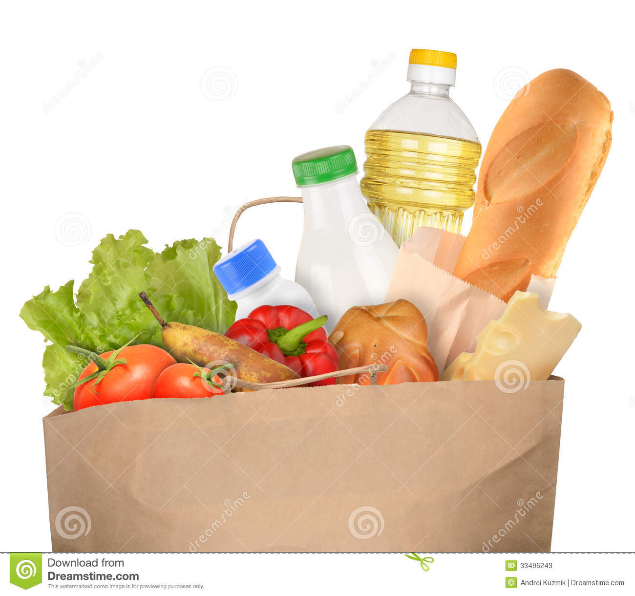 Bag of Groceries stock image. Image of nobody, vegetables ...