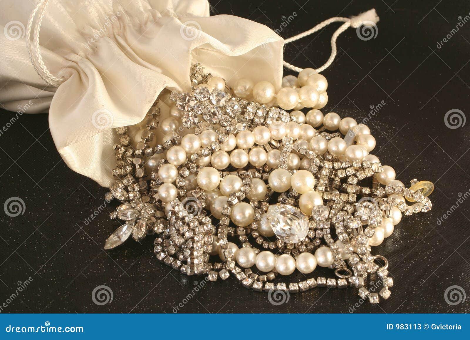 Bag Of Jewels Stock Photos Image 983113