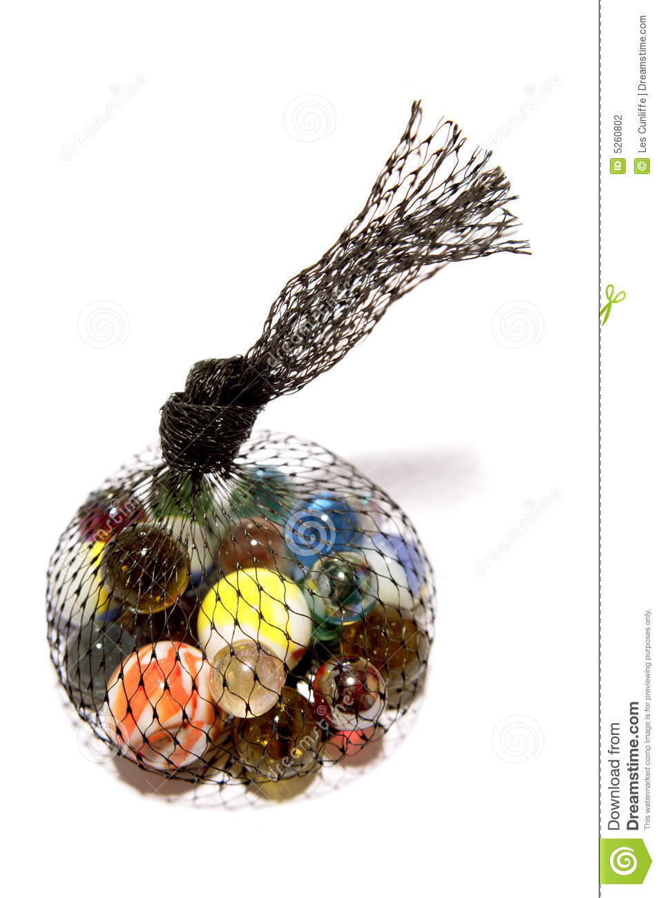 Bag Of Marbles Stock Photography Image 5260802