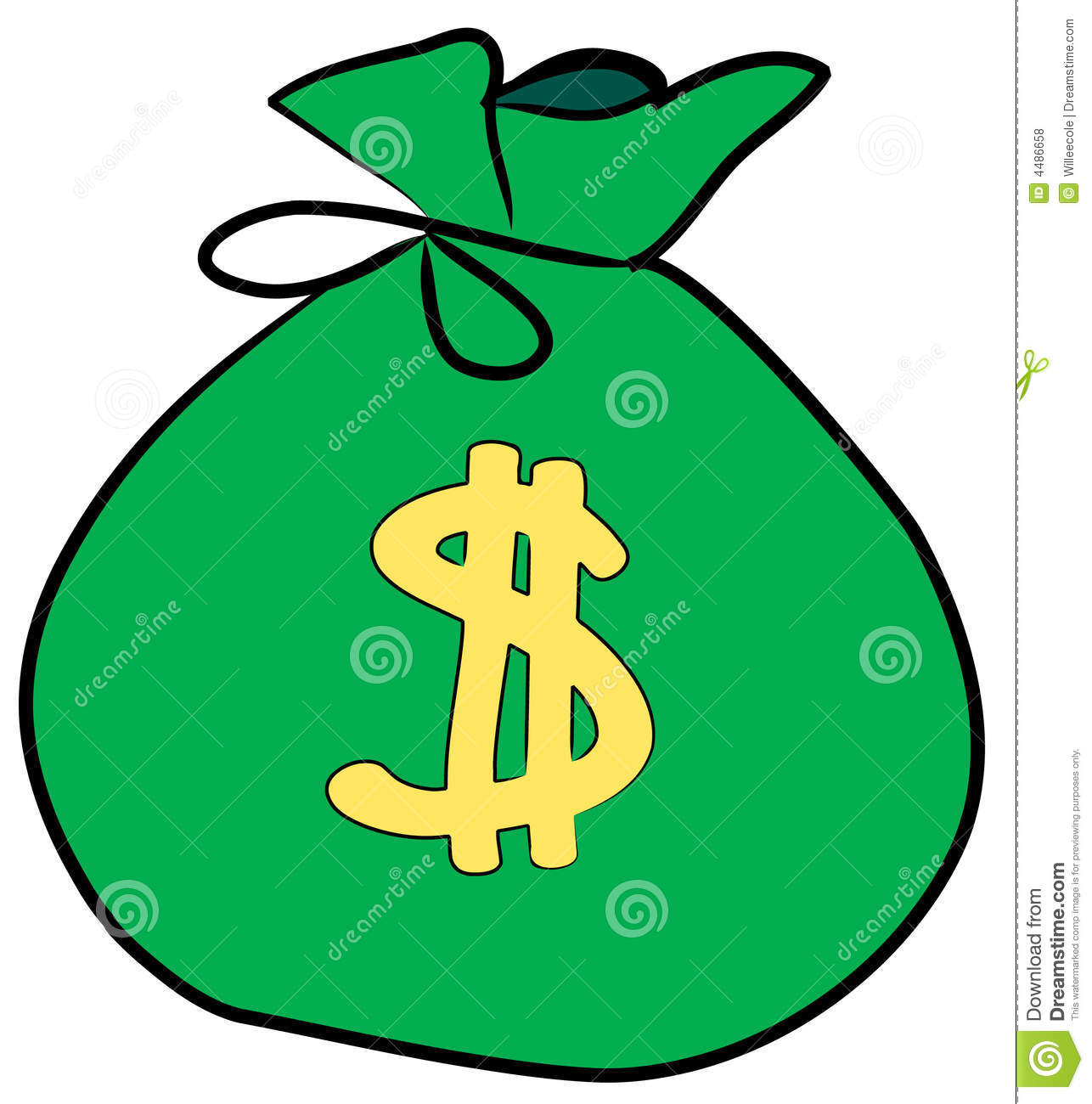 Bag With Money Sign Cartoon: Bag Of Money Stock Vector. Illustration Of Exchange, Rate