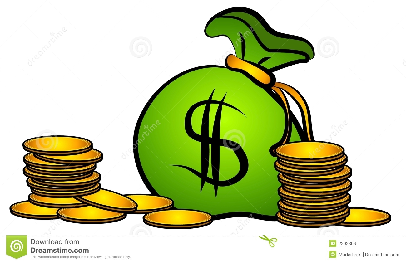 bag of money coins clip art stock illustration illustration of rh dreamstime com