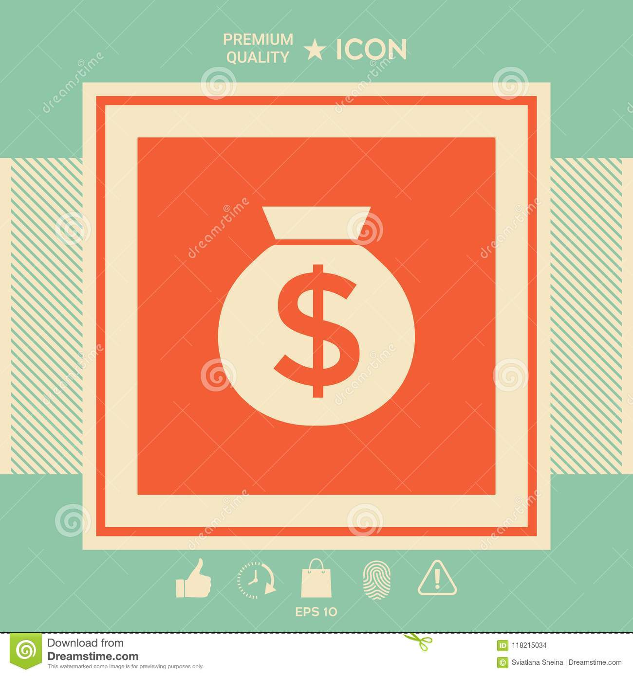 Bag Of Money Icon With Dollar Symbol Stock Vector Illustration Of