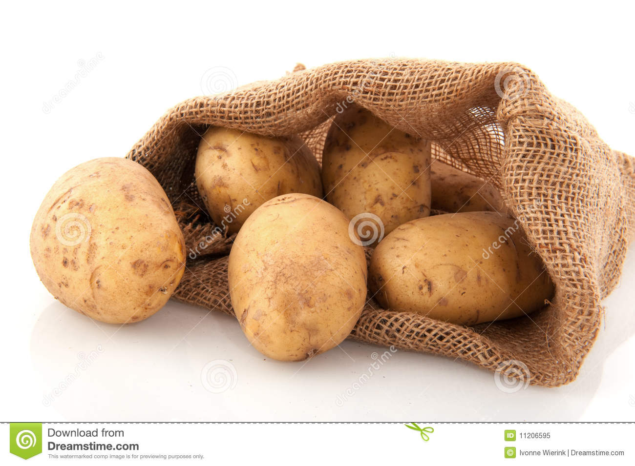 Bag Potatoes Royalty Free Stock Photo - Image: 11206595