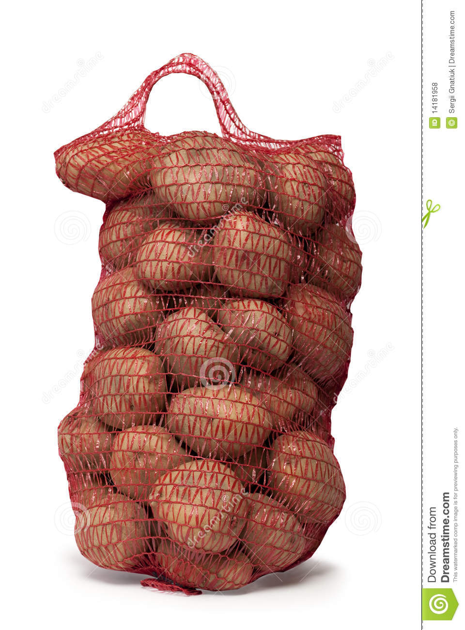 Bag of potatoes stock photo. Image of single, objects ...