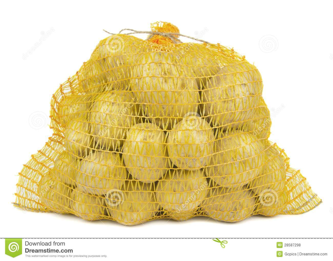 A Bag Of Potatoes Royalty Free Stock Photos - Image: 28587298