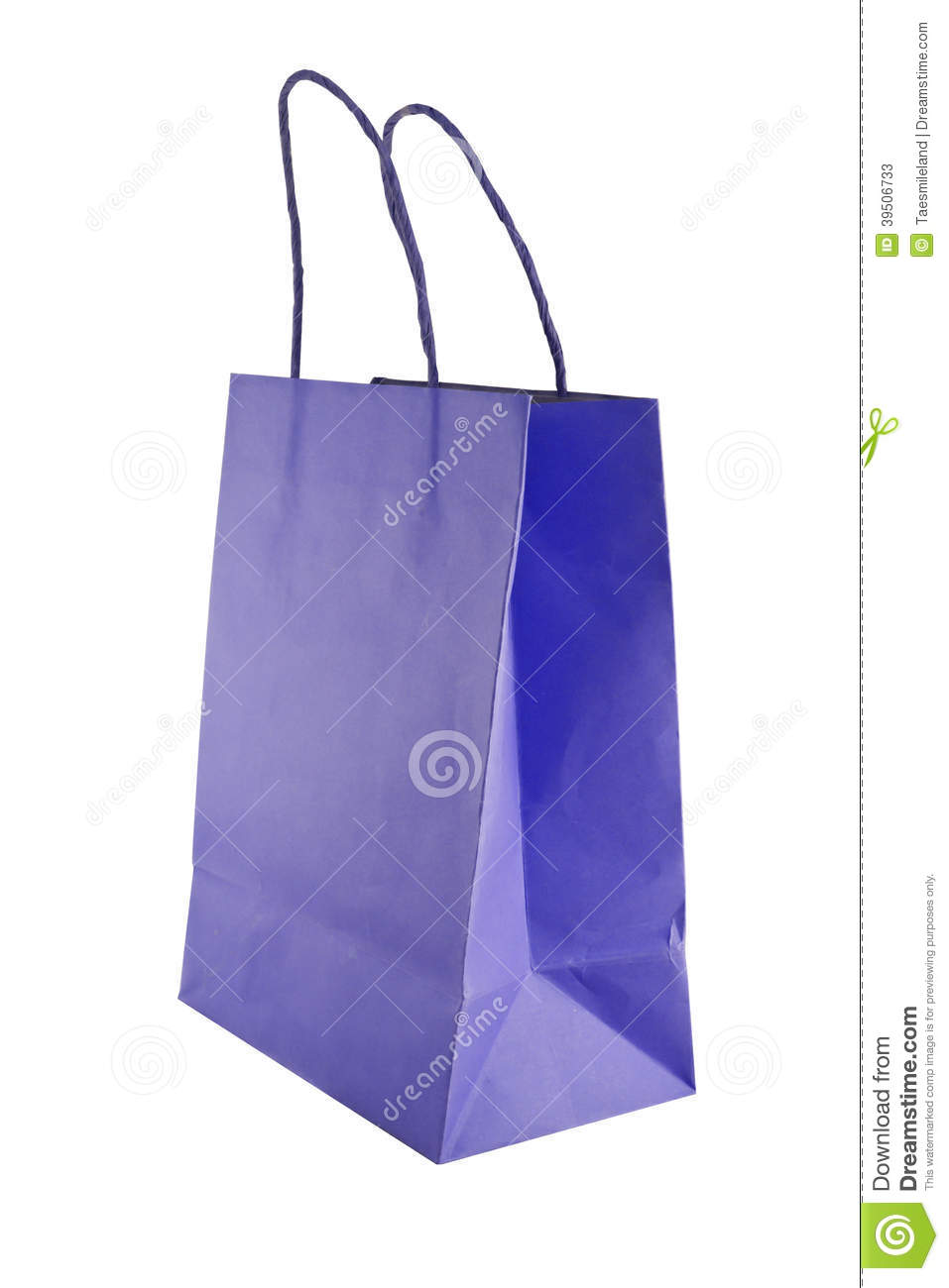 Bag for shopping isolated