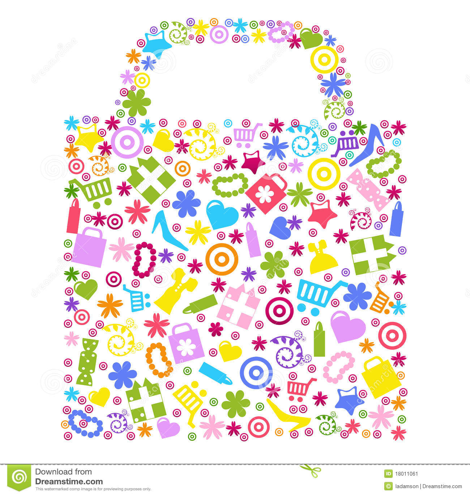 Bag For Shopping. Vector