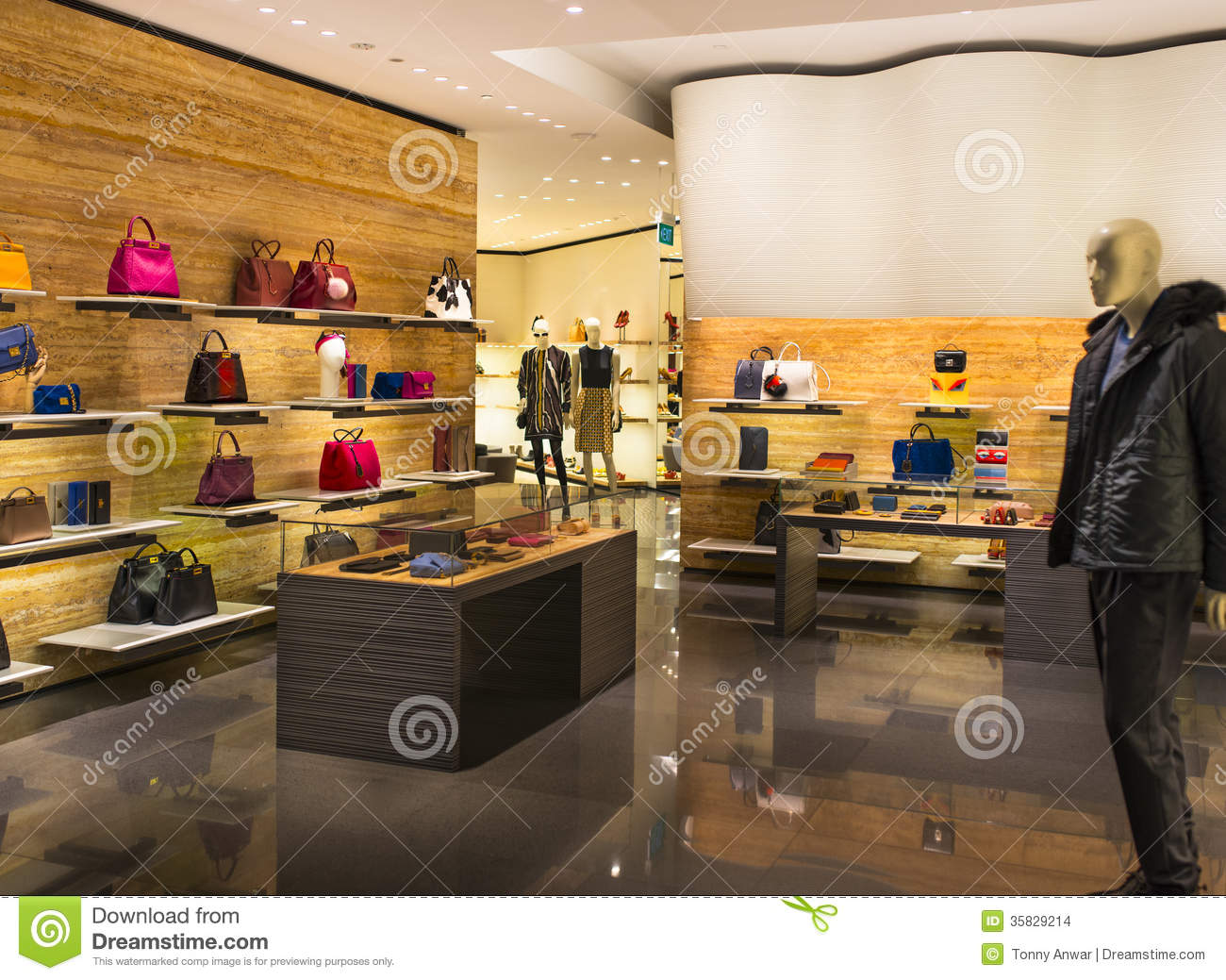 Bag Store Stock Images - Image: 35829214