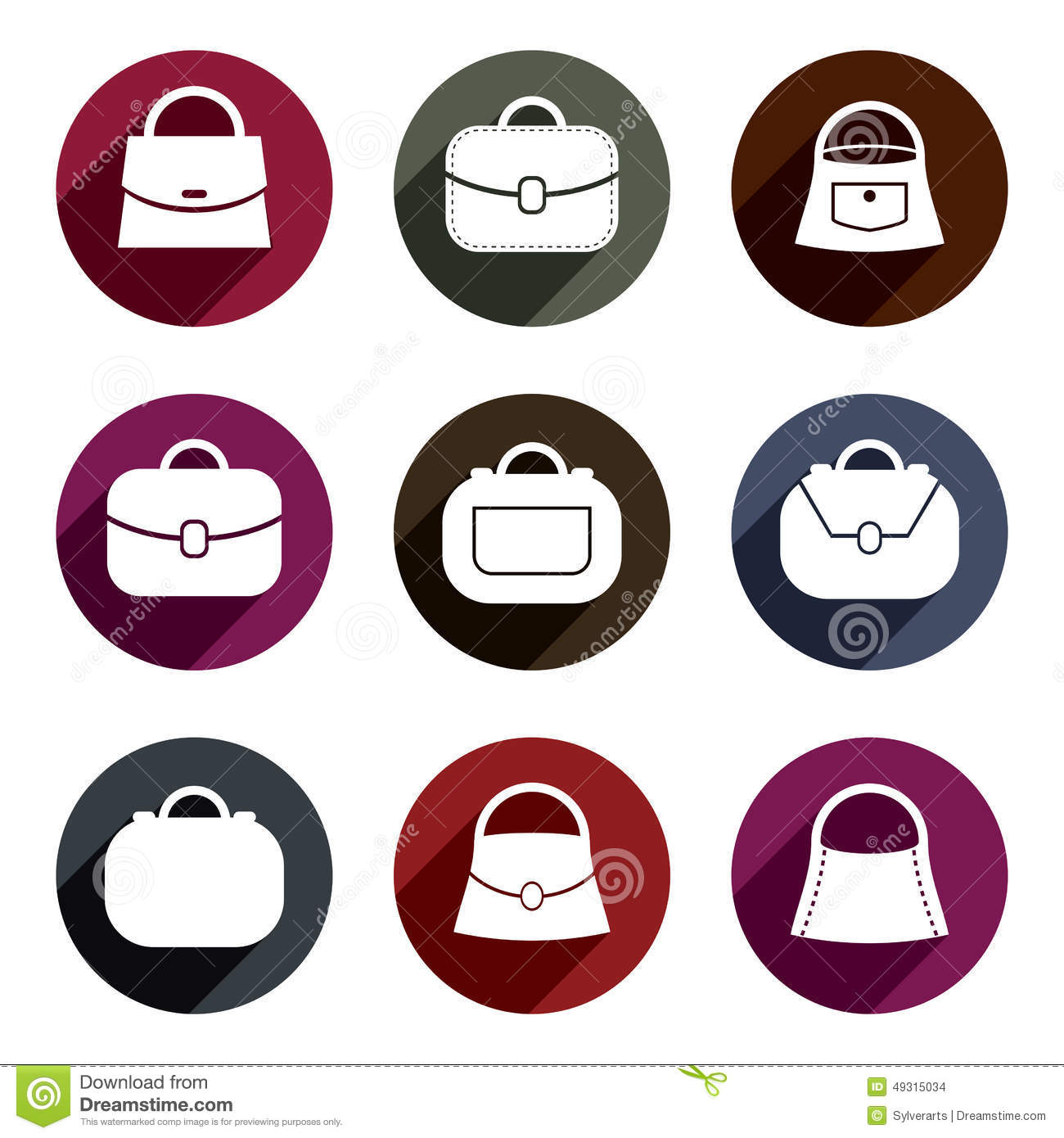 Bag vector icons set symbols collection stock vector bag vector icons set of 9 examples fashion theme symbols collec stock images biocorpaavc Gallery
