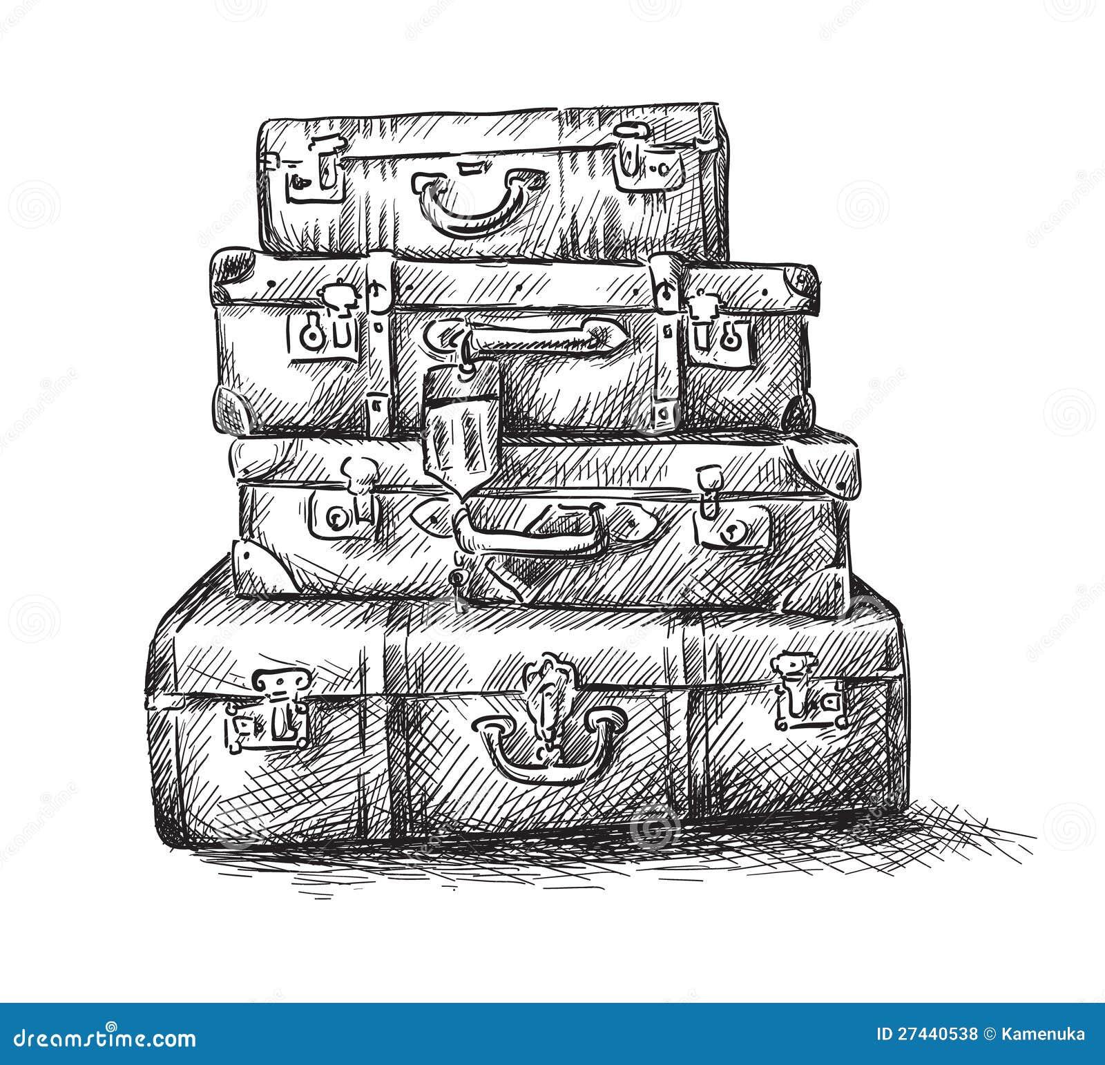 Znalezione obrazy dla zapytania bagaże rysunek