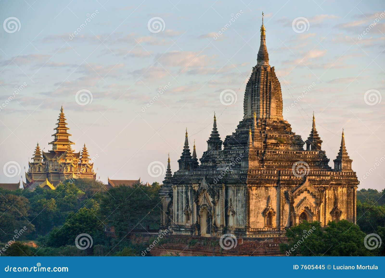 Bagan缅甸paya shwegugy日出