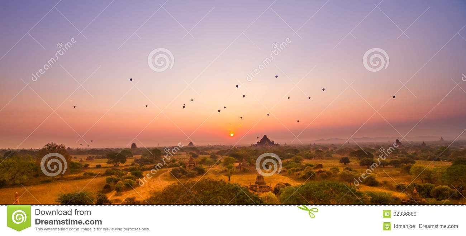 Bagan восход солнца