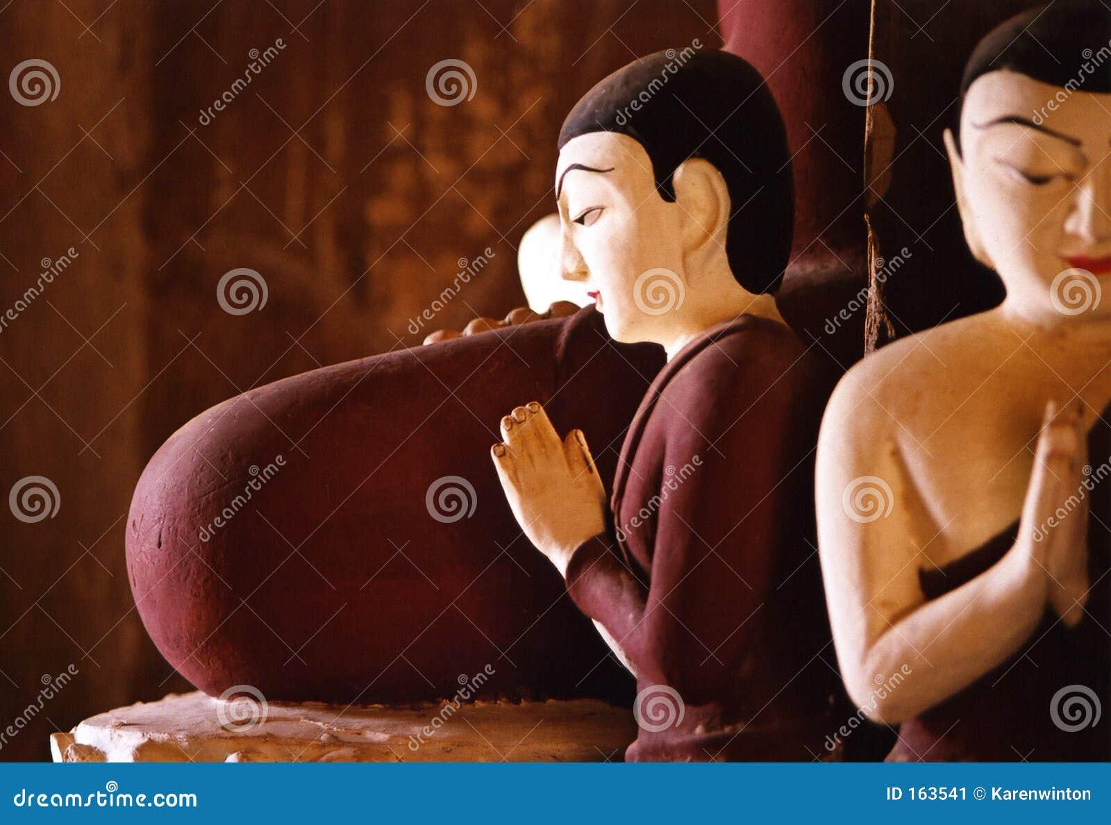 Bagan buddhas Burma pagoda centrum