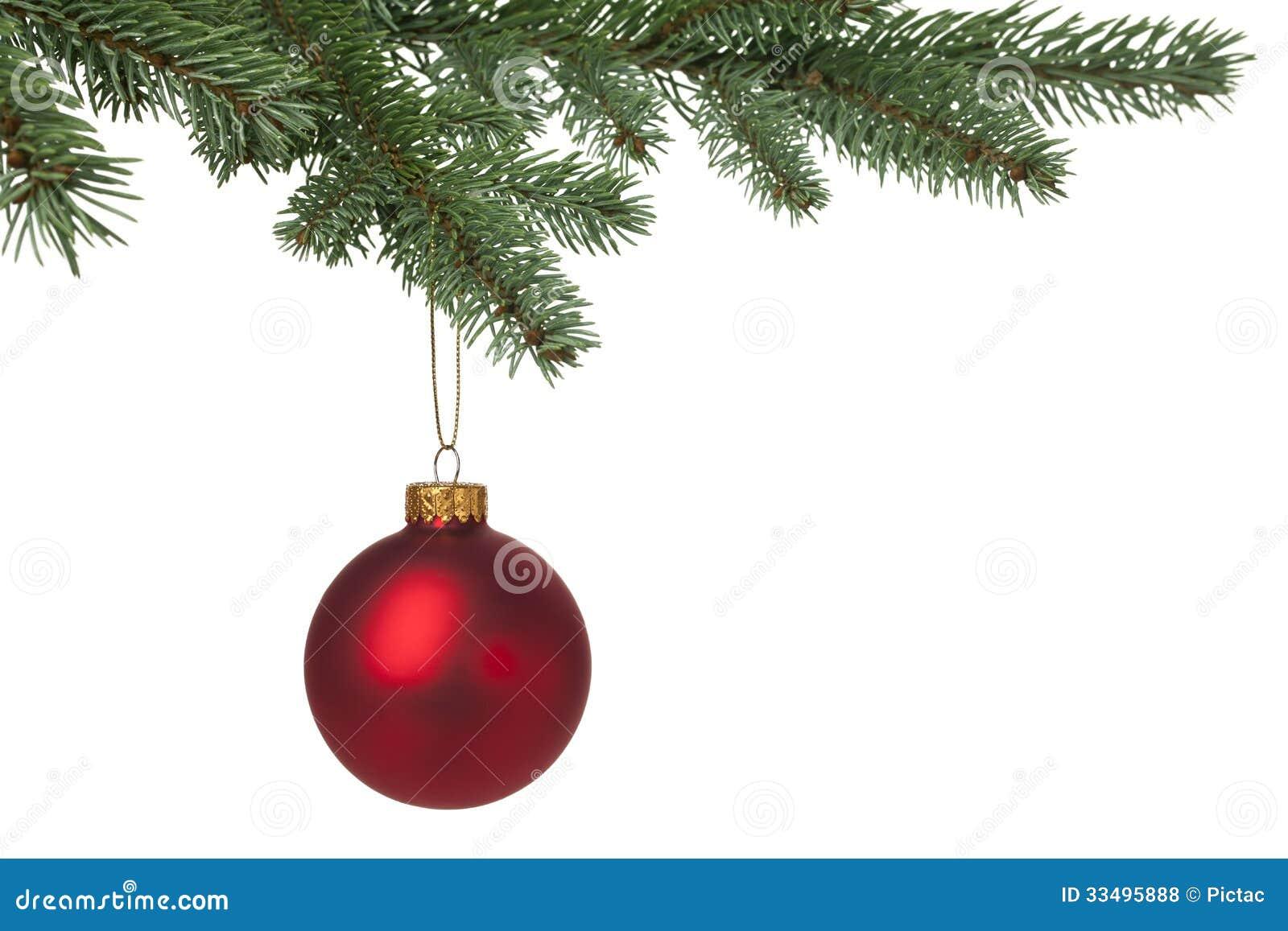 Bagattella rossa di Natale che appende sul pino