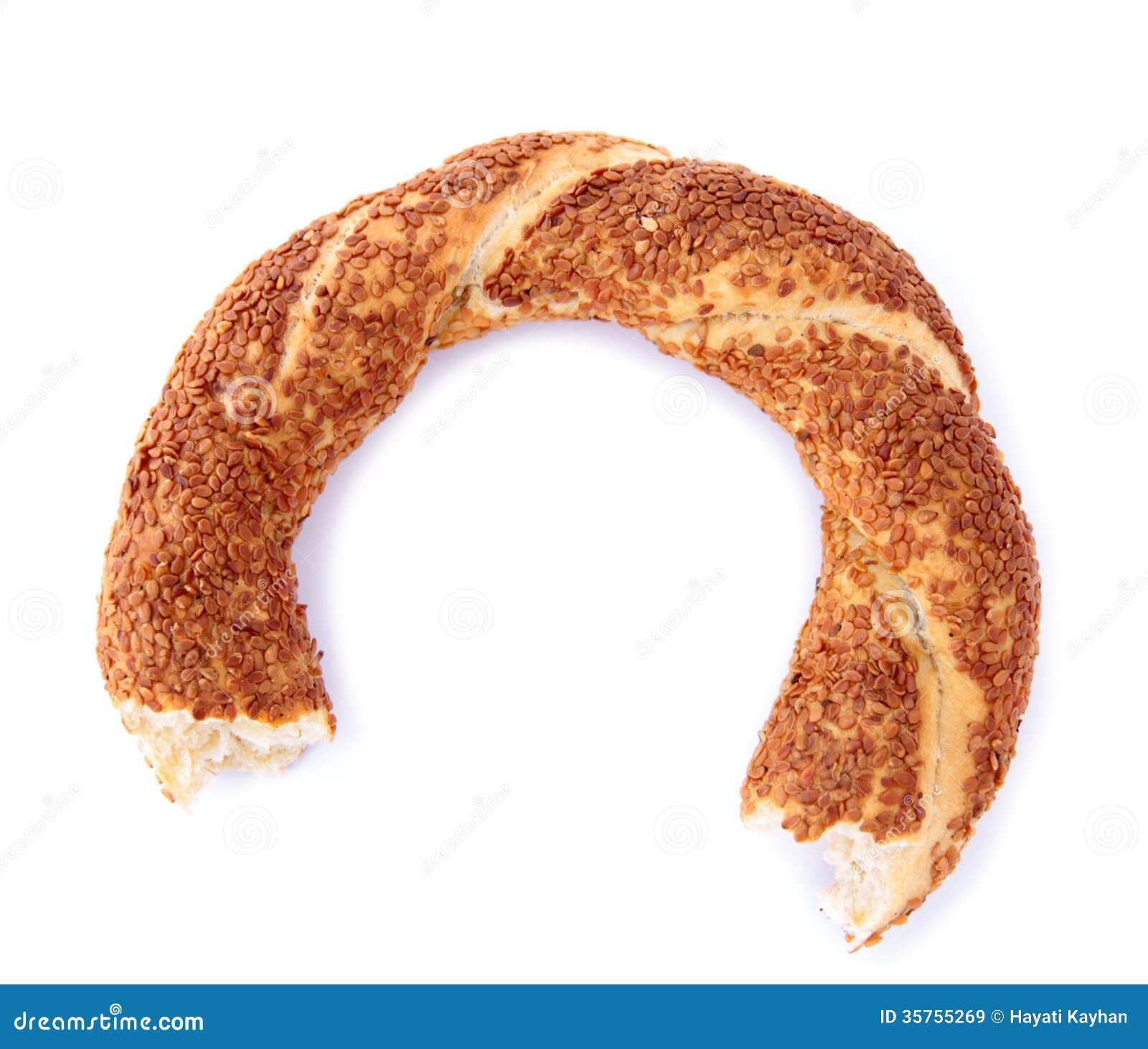 Bagel turc de sésame (mordu)