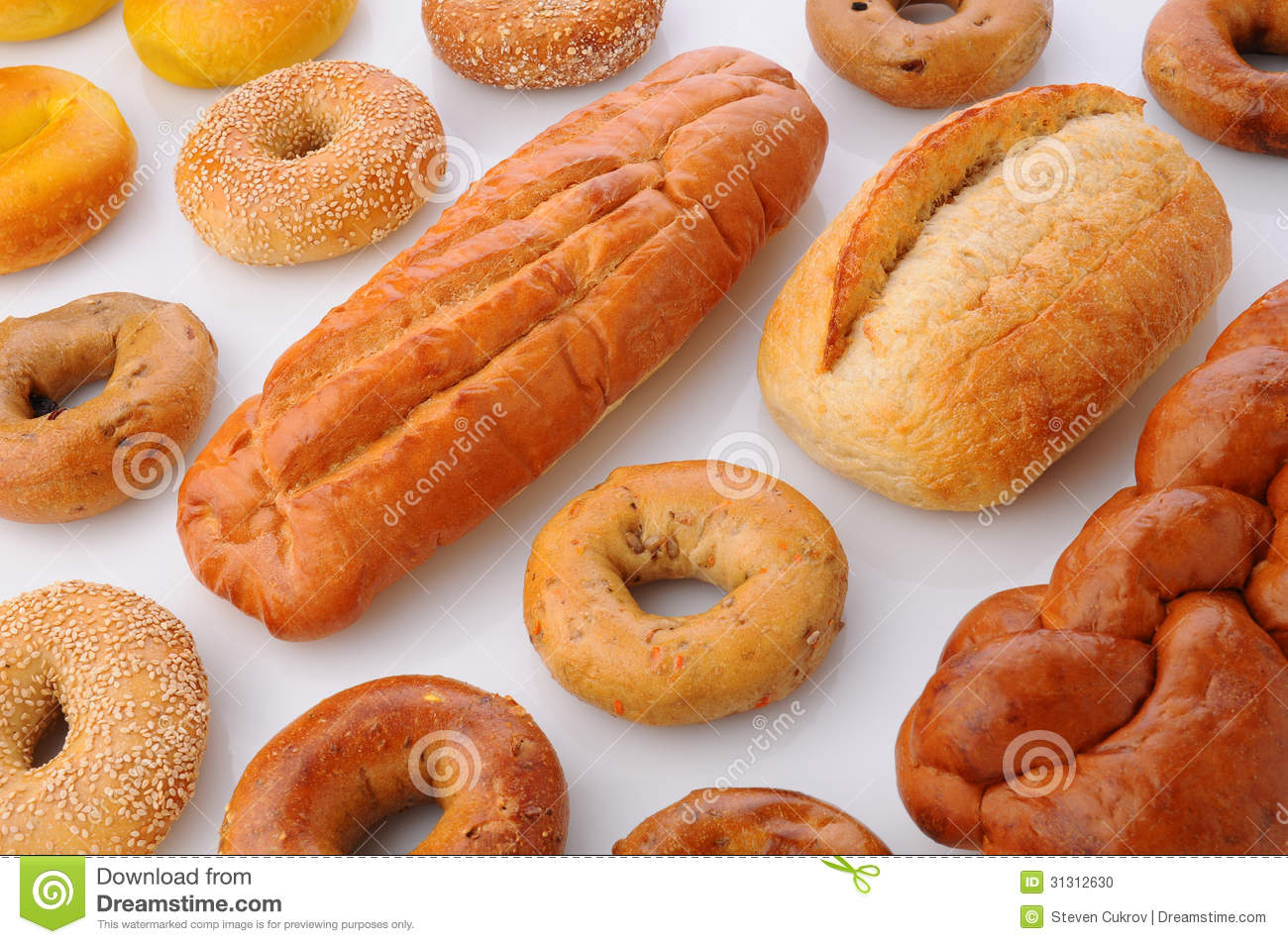 Bagels i chleby