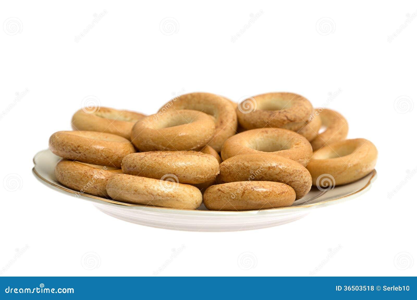 Bagels présentés d un plat