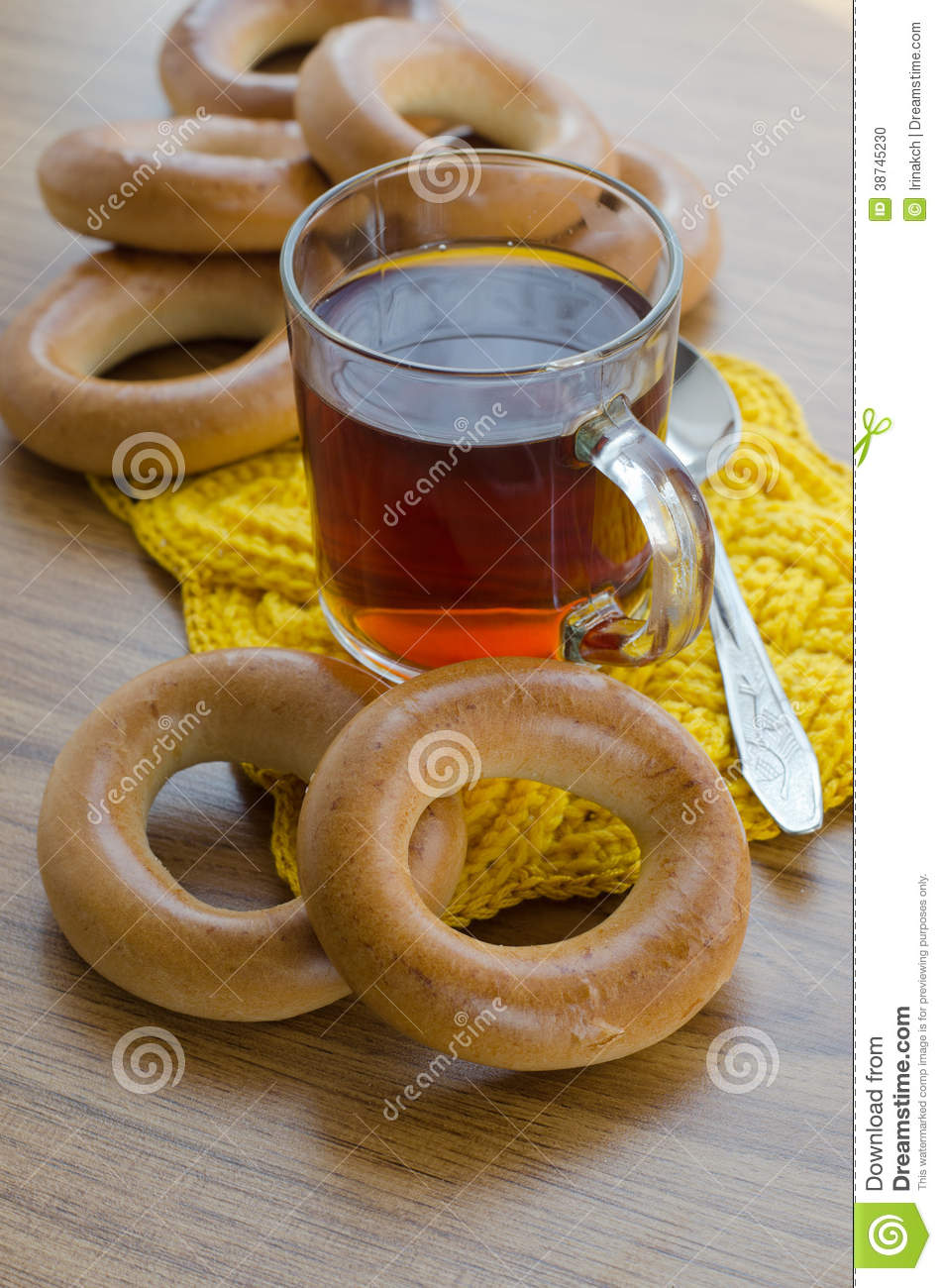 Bagels and tea stock photo image 38745230 for Authentic russian cuisine