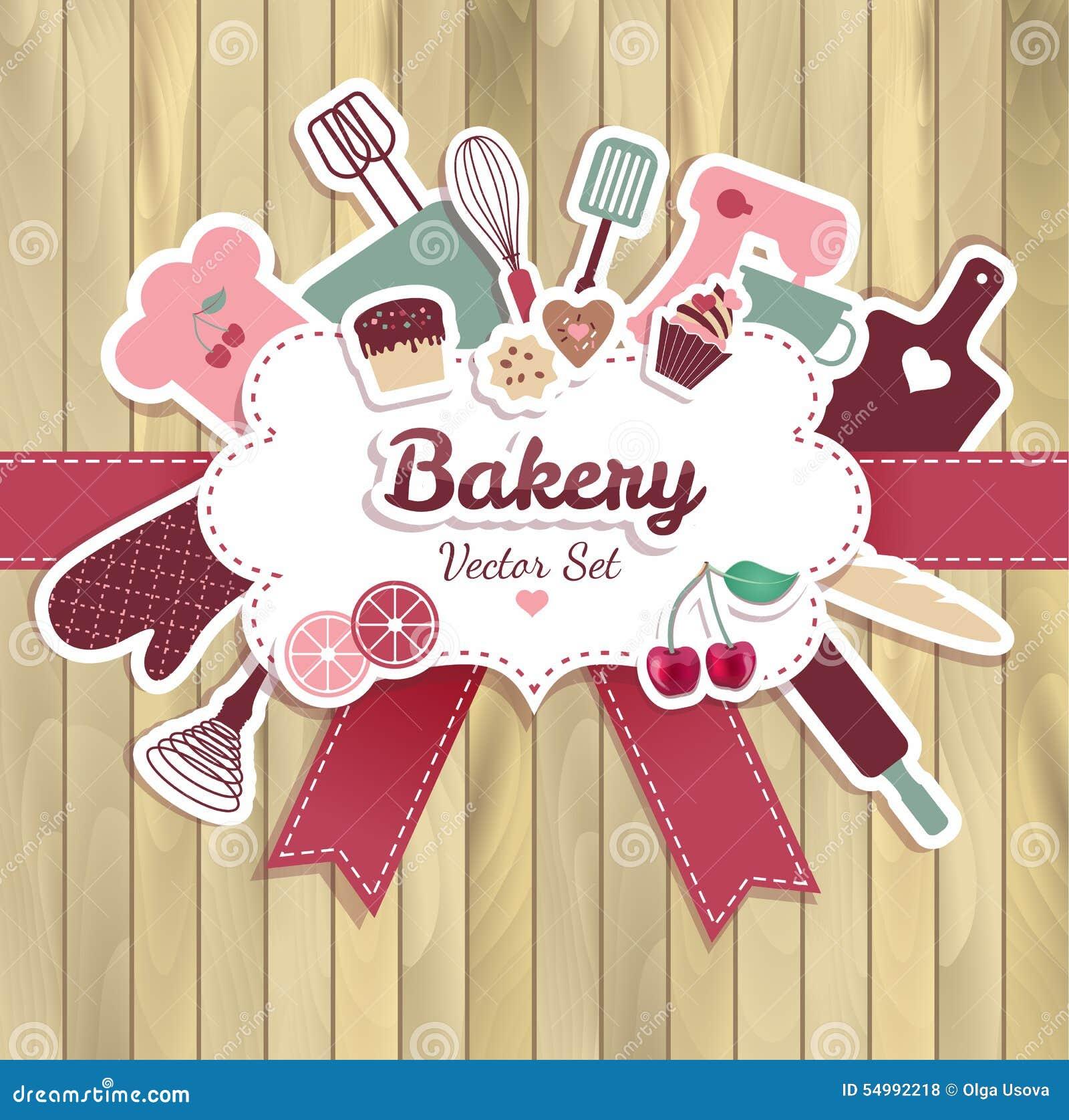 Bageri och söt abstrakt illustration