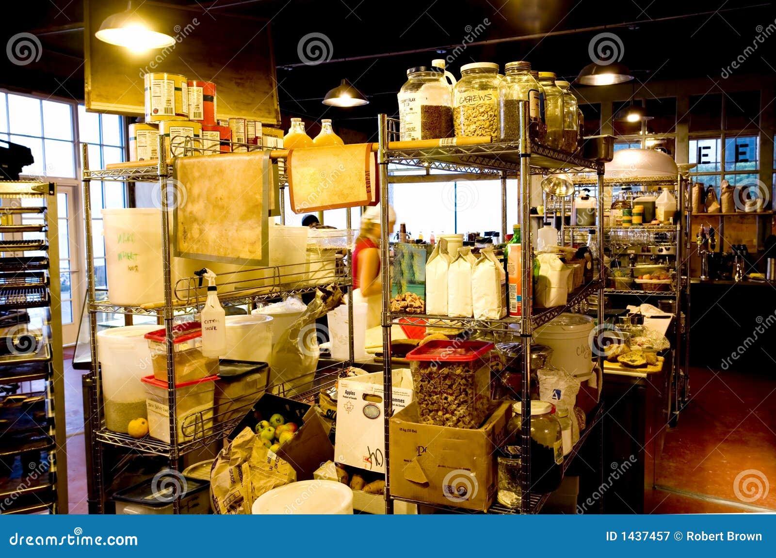 Bagerikaffeinterioren shoppar