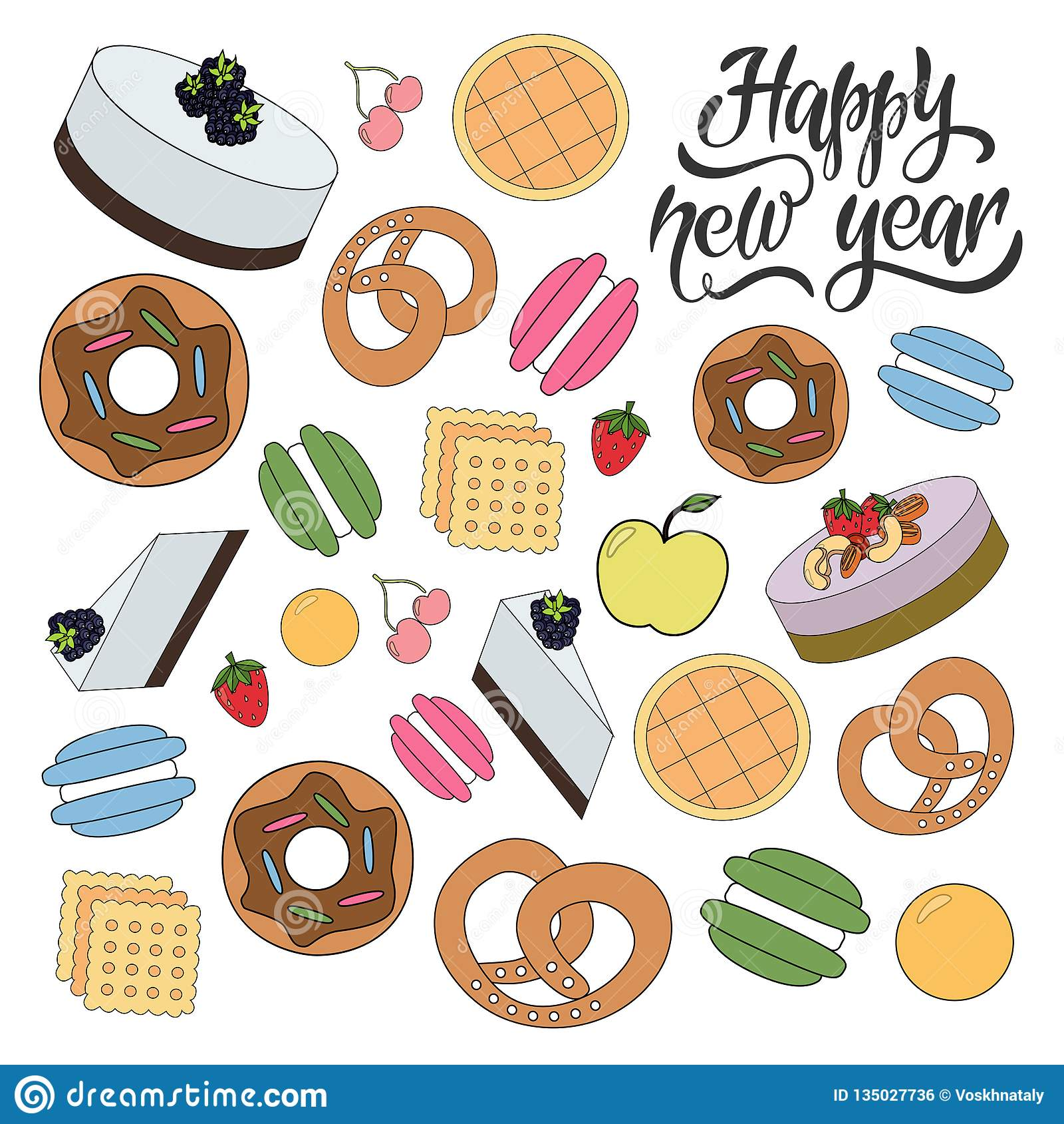 Bagerimodell för lyckligt nytt år
