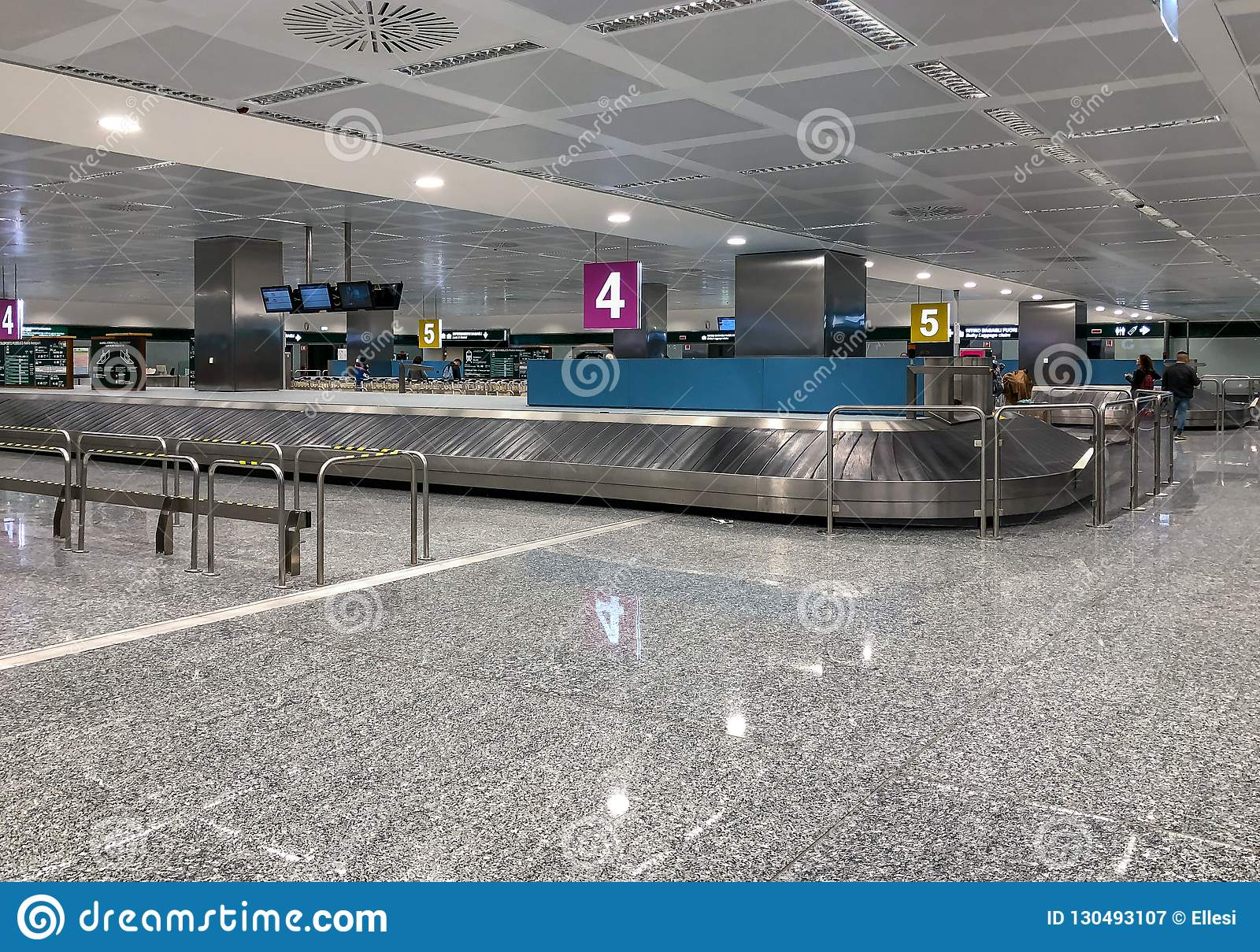 Baggage Claim Area At Milan Malpensa International Airport Terminal 1 Italy Editorial Photography Image Of Journey Background 130493107