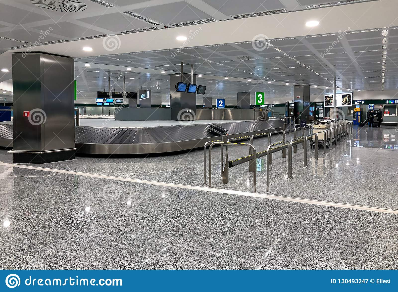 Baggage Claim Area At Milan Malpensa International Airport Terminal 1 Italy Editorial Photography Image Of Interior Metal 130493247