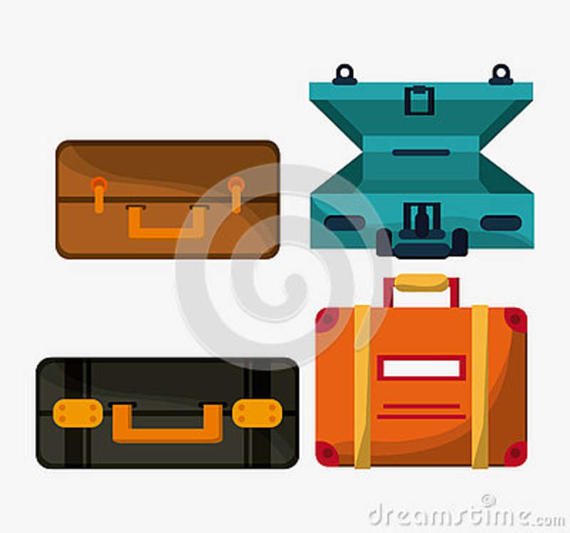 Baggage icon. Time to travel design. Vector graphic