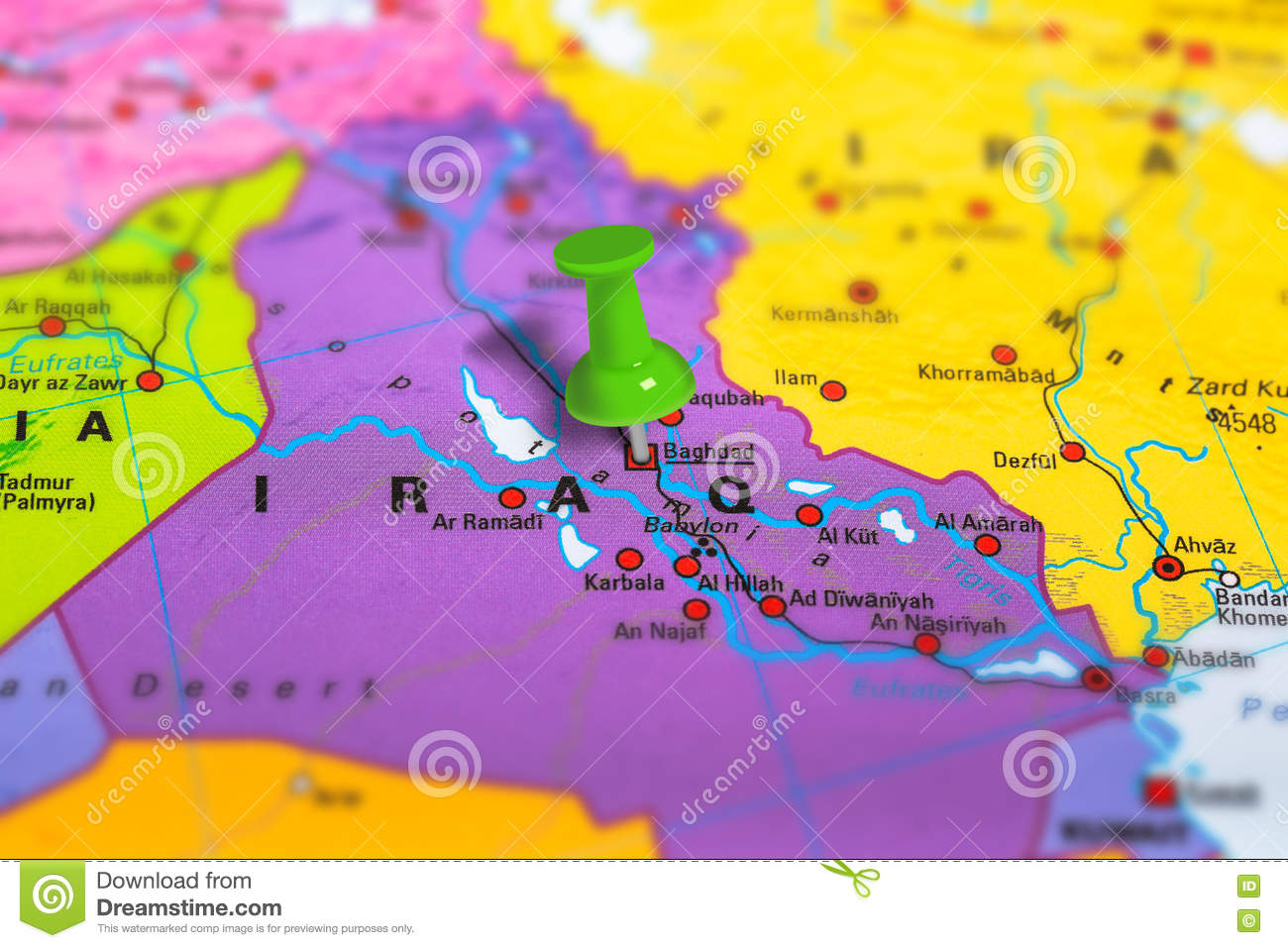 baghdad iraq map stock photo image of background macro 80955528