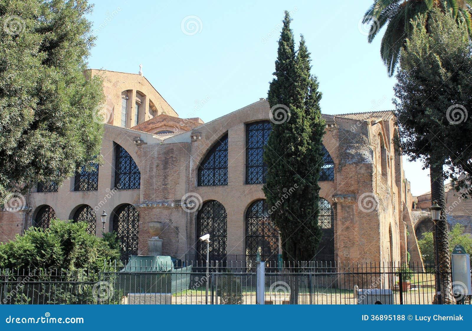 Download Bagni di Diocleziano fotografia stock. Immagine di città - 36895188