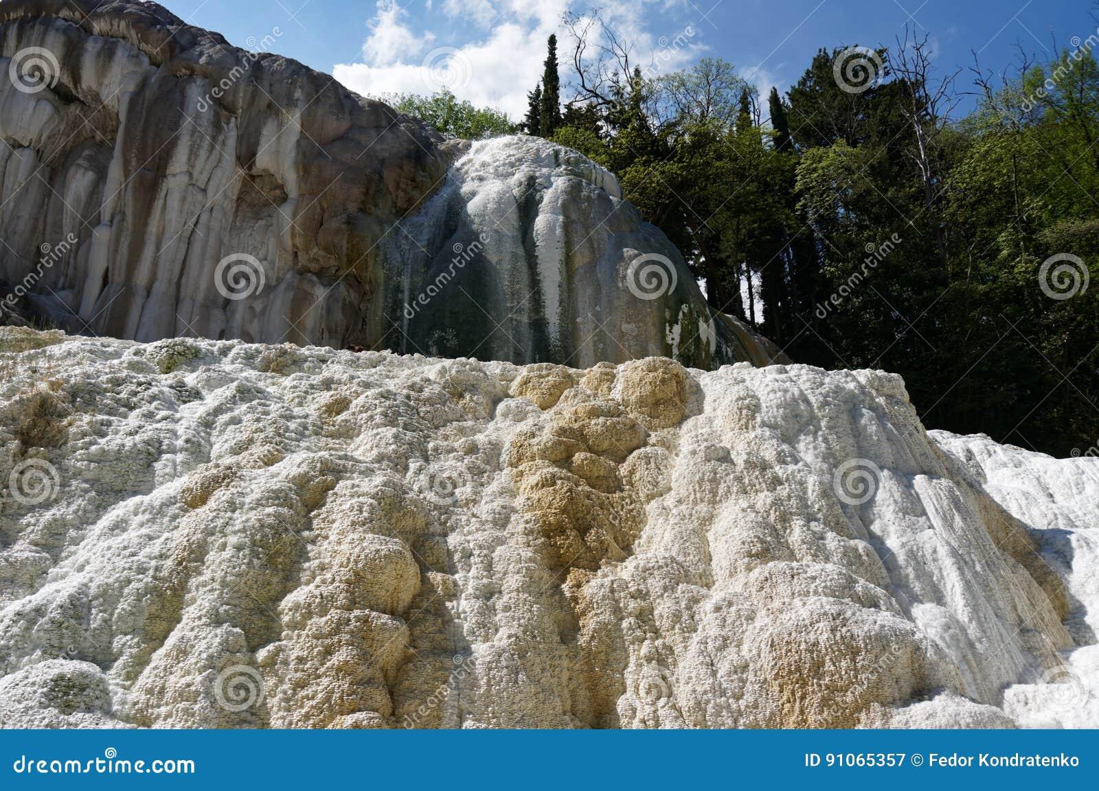 Bagni San Filippo Hot Springs, Tuscany, Italien