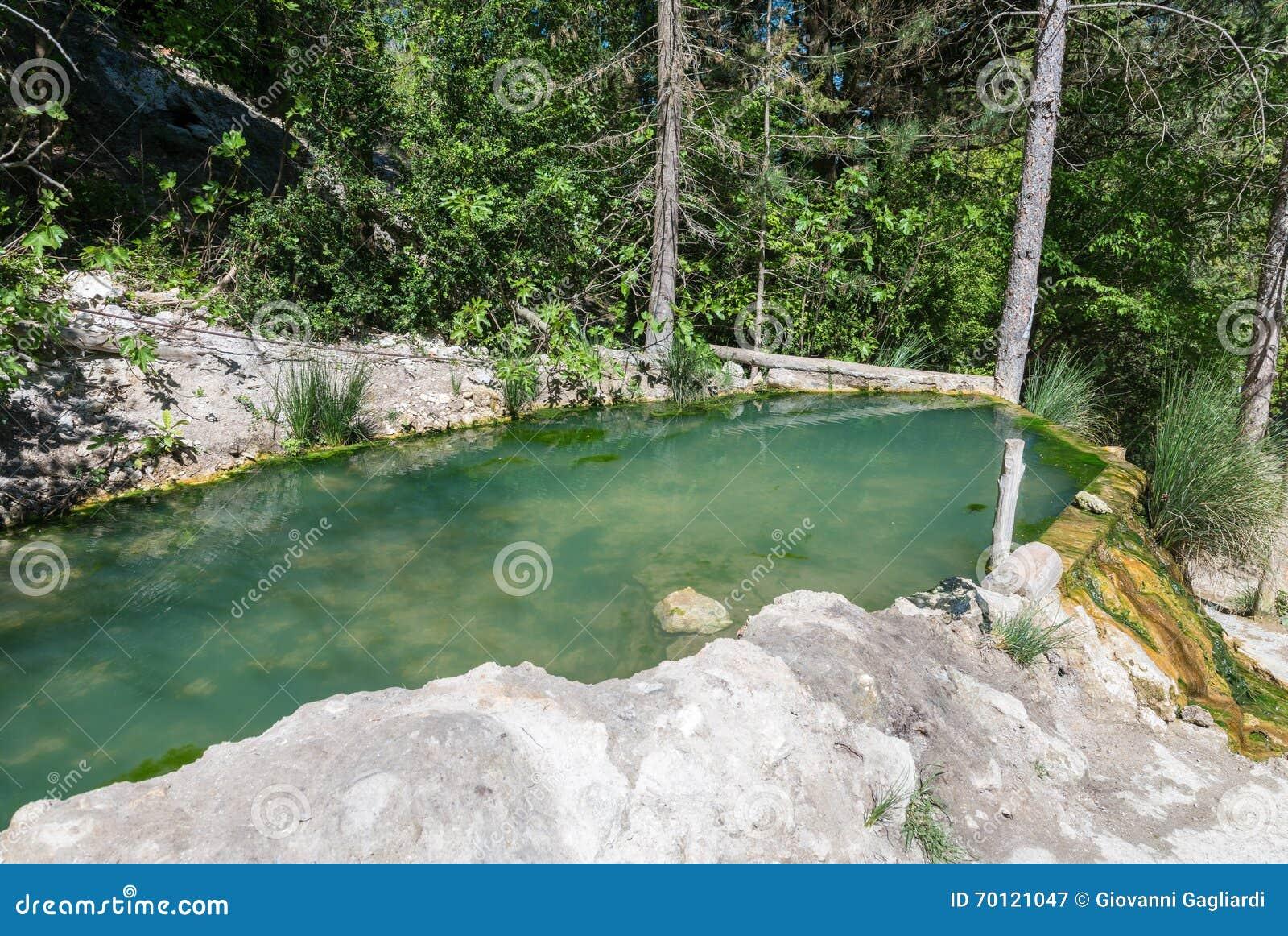 Bagni San Filippo, Toscanië De thermische natuurlijke lente