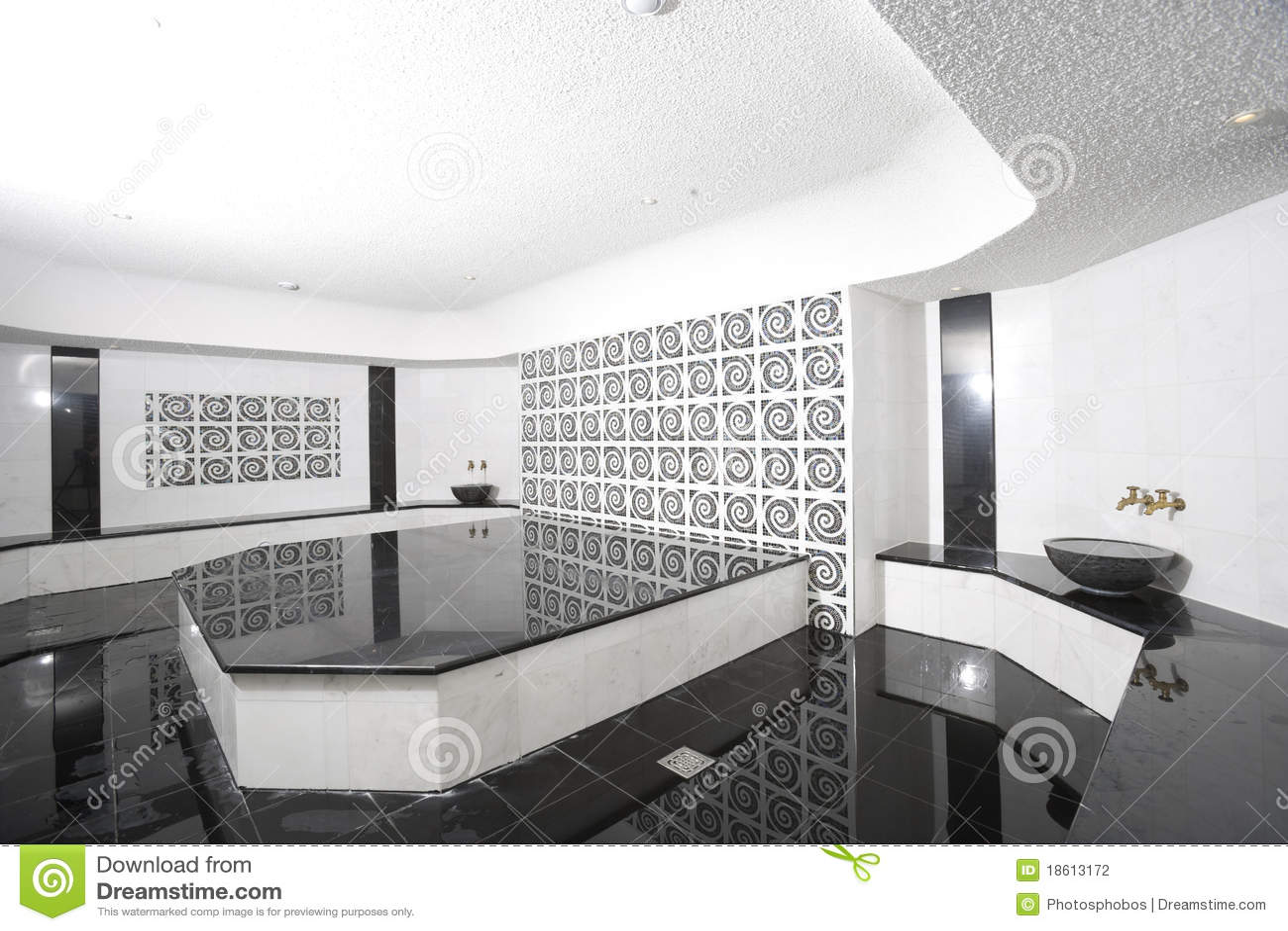 Bagno in bianco e nero fotografia stock immagine 18613172 - Bagno arancione e bianco ...