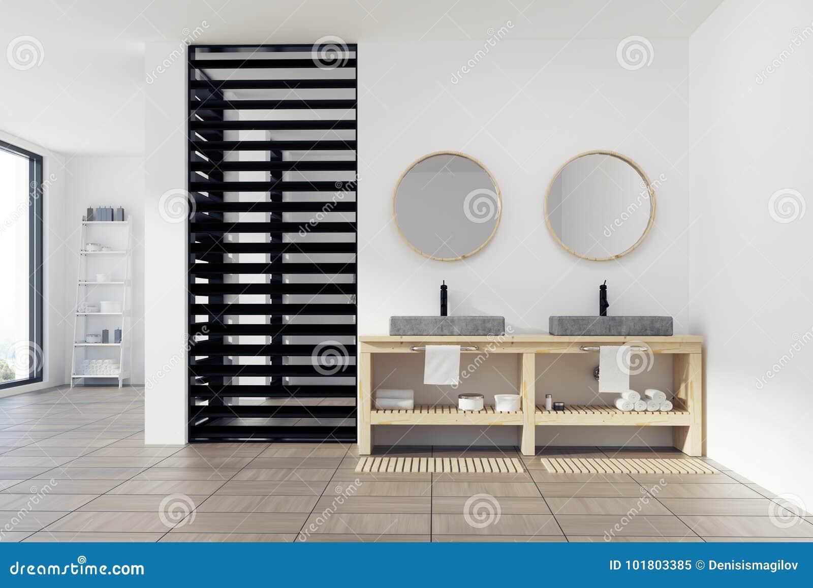 Bagno bianco e nero di lusso lavandino illustrazione di stock illustrazione di contemporaneo - Bagno bianco e nero ...