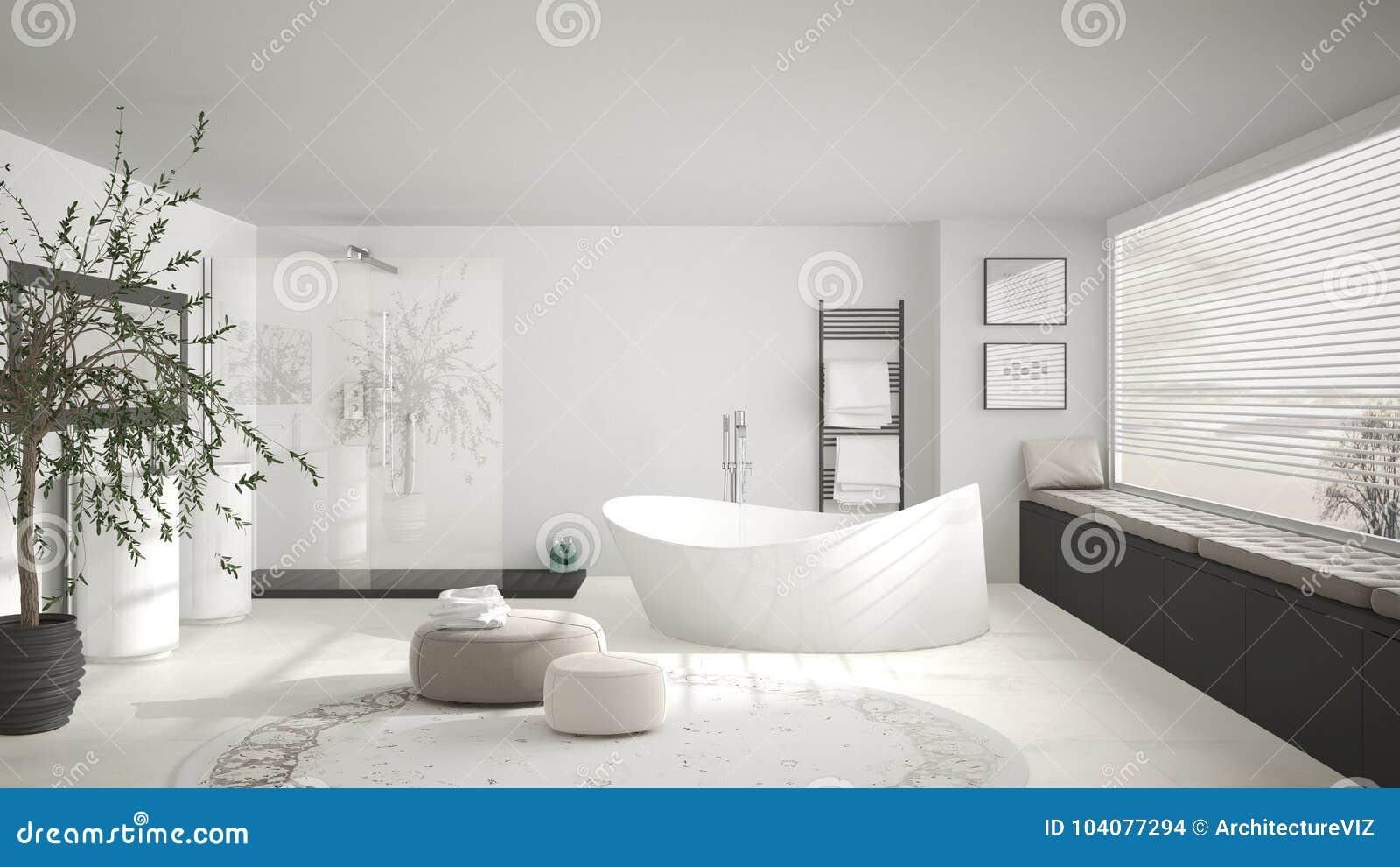 Tappeti Da Bagno Eleganti : Bagno classico moderno con grande tappeto rotondo grande w