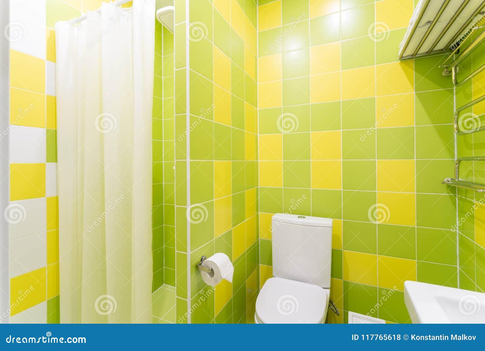 Bagno Con La Doccia, La Ciotola Di Toilette Ed Il Lavandino Camera ...