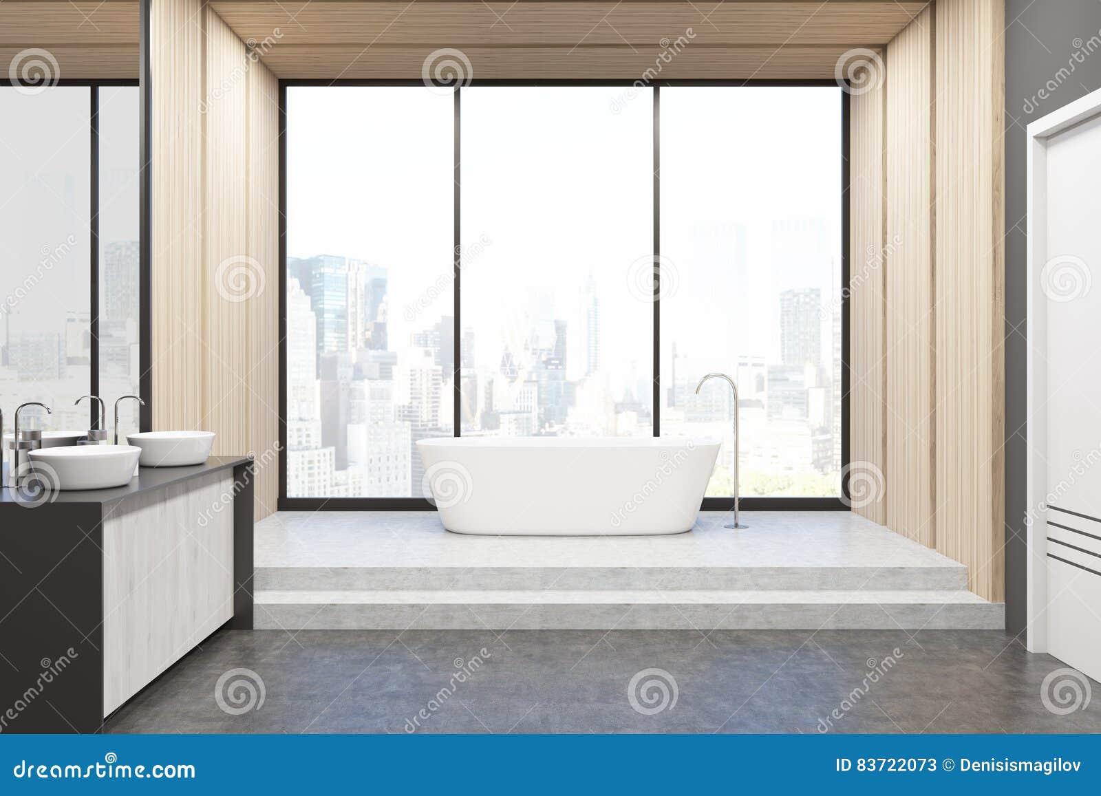 Decorazione Pareti Bagno : Bagno con le pareti leggere illustrazione di stock illustrazione