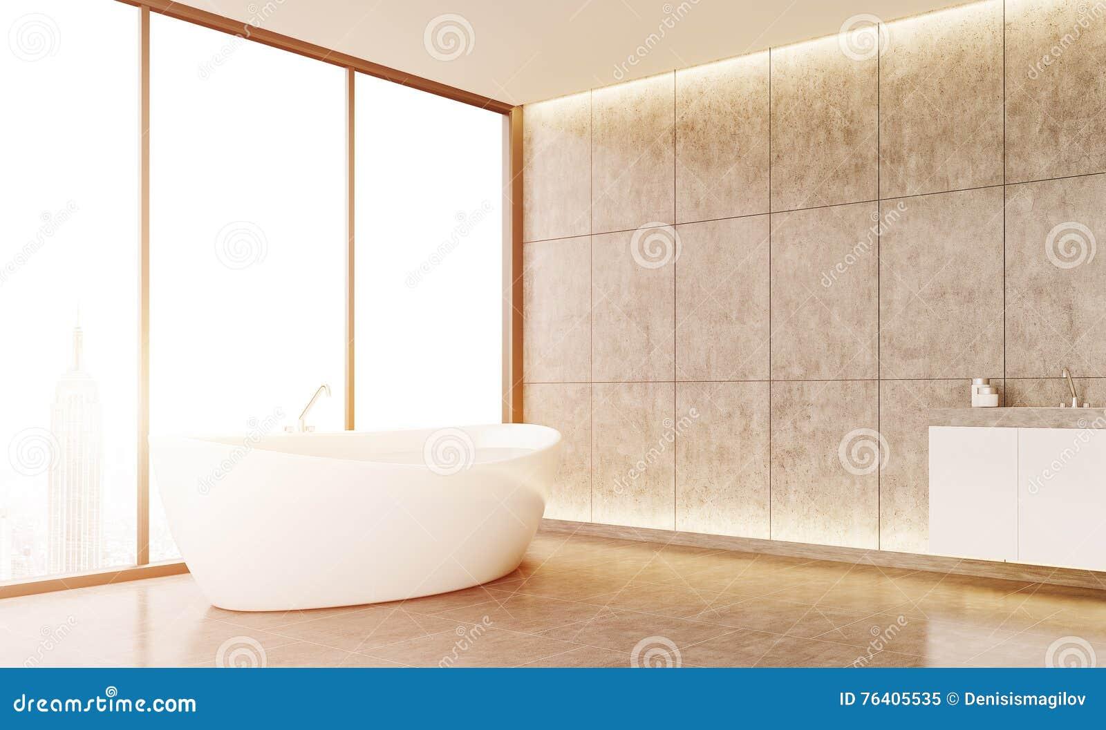 Vasca Da Bagno In Cemento : Bagno del muro di cemento illustrazione di stock illustrazione di