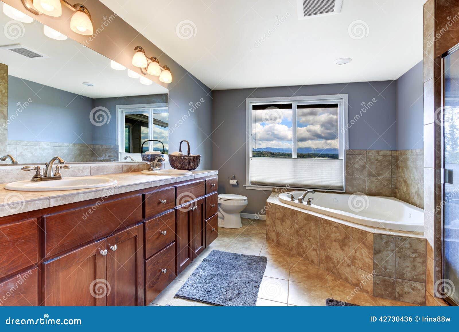 Bagno della lavanda con la disposizione del bagno delle for Disposizione della casa aperta