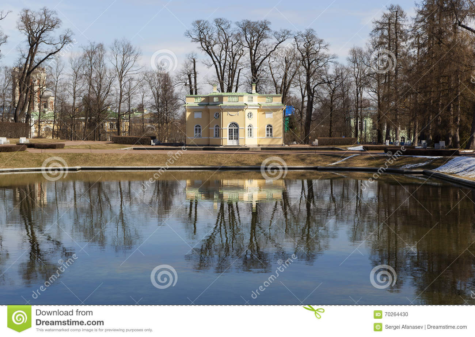 Bagno della tomaia del padiglione Città Pushkin La Russia