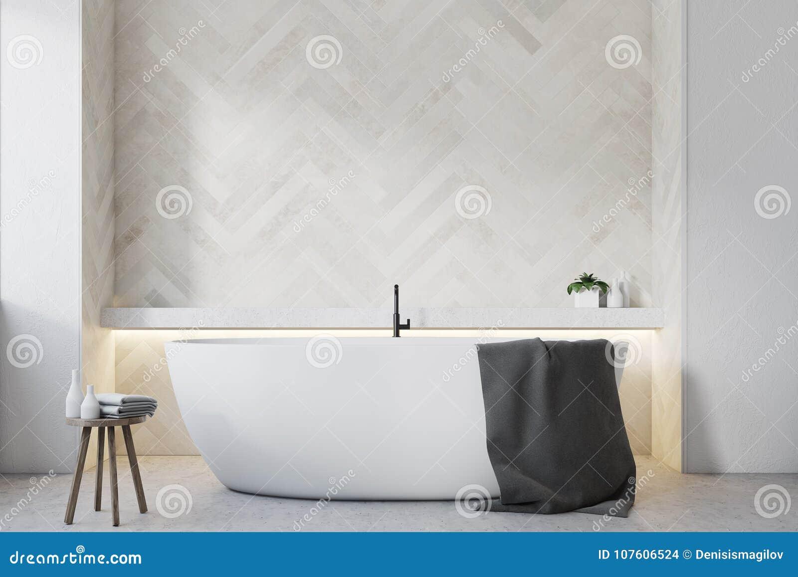 Bagno Legno Bianco : Bagno di legno bianco fine rotonda della vasca su illustrazione