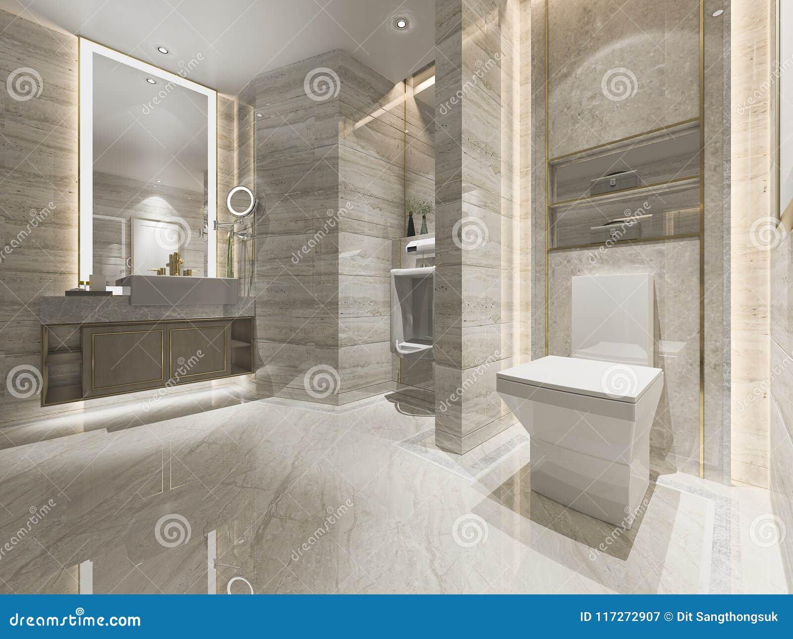 Bagno di lusso e toilette di progettazione moderna della