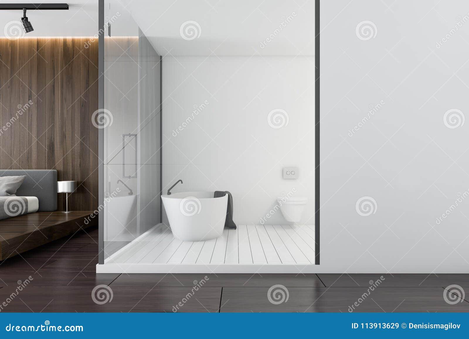 Bagno Legno Bianco : Bagno di lusso di legno bianco e scuro vista laterale