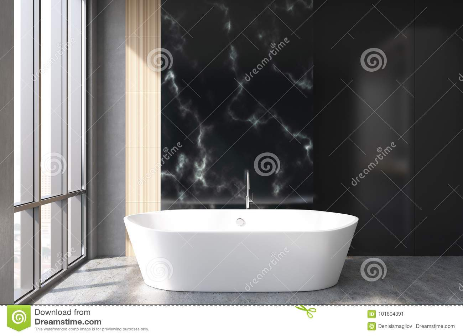 Bagni In Marmo Nero : Bagno di marmo nero vasca illustrazione di stock illustrazione