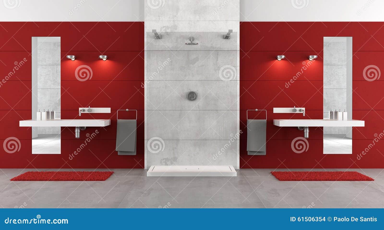 Bagno minimalista con la doccia illustrazione di stock