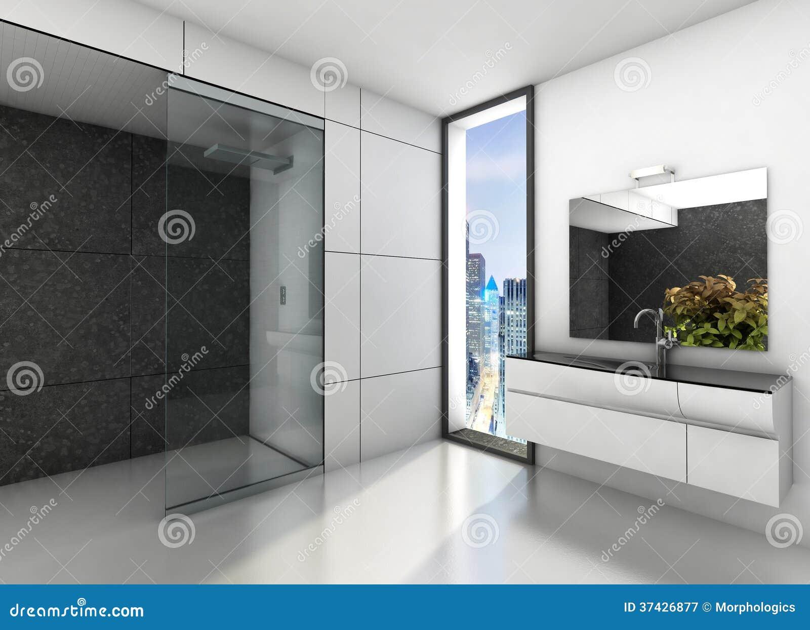Bagno moderno immagine stock immagine di grigio interno