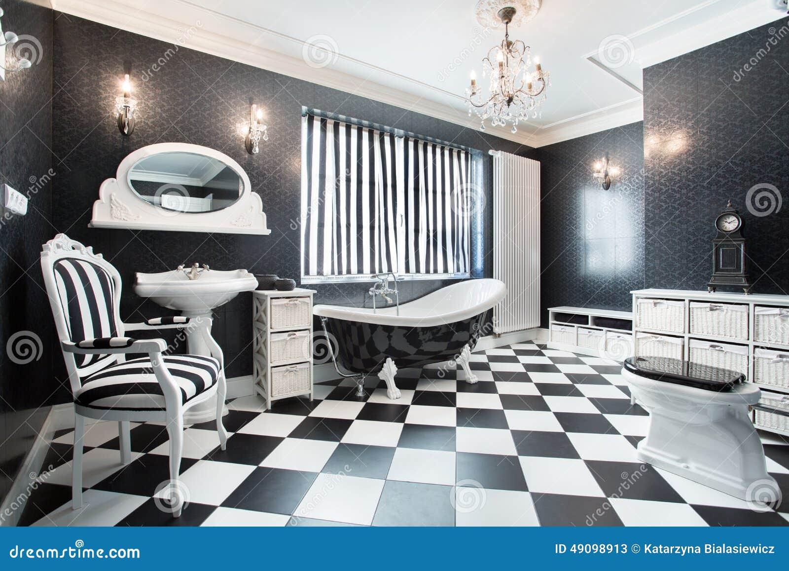 Bagno moderno bianco e nero immagine stock immagine - Bagno bianco e nero ...